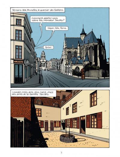 Page 1 la marque Jacobs ; une vie en bande dessinée