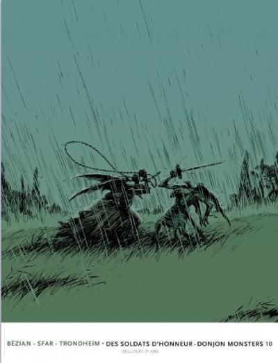 Couverture donjon monsters tome 10 - des soldats d'honneur - édition 25 ans Delcourt