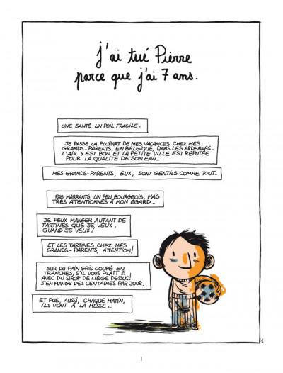 Page 1 pourquoi j'ai tué Pierre ; édition 25 ans Delcourt