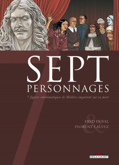 image de 7 personnages - sept figures emblématiques de Molière enquêtent sur sa mort