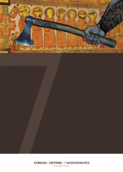 Couverture 7 missionnaires - édition 25 ans Delcourt