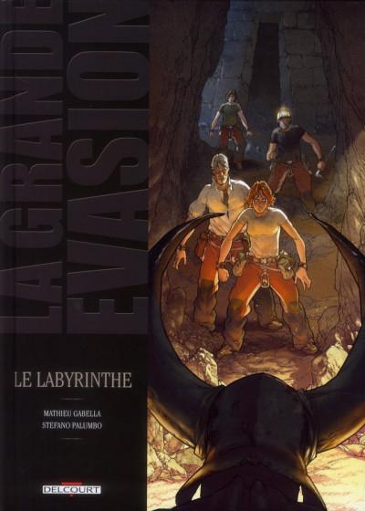 Couverture la grande évasion ; le labyrinthe