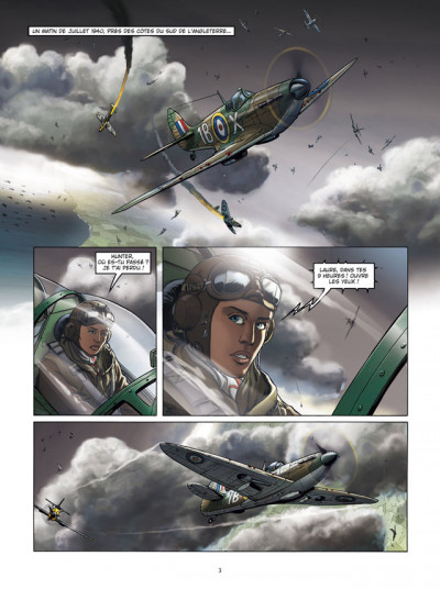 Page 1 Lady Spitfire T.1 - la fille de l'air