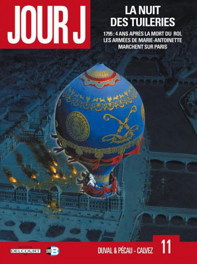 Couverture jour J tome 11 - la nuit des tuileries
