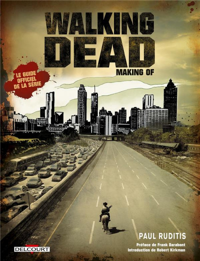 Couverture walking dead ; making of