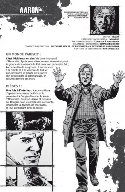 Page 1 walking dead ; le guide de A à Z