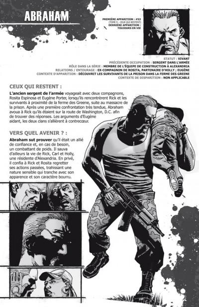 Page 2 walking dead ; le guide de A à Z