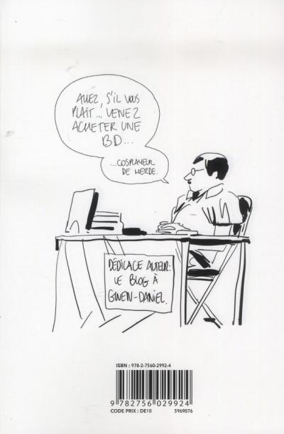 Dos Bastien Vivès tome 6 - la bande dessinée