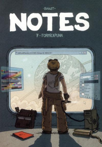 Couverture notes tome 7 - fourmicapunk