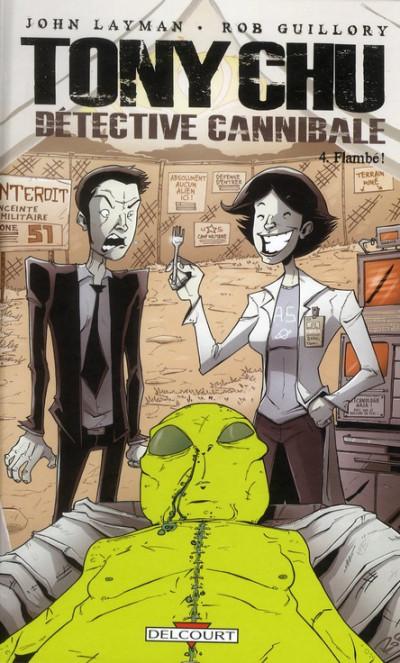 Couverture Tony Chu, détective cannibale tome 4 - flambé !