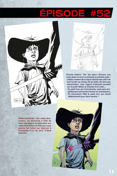 Page 7 Walking dead - art book tome 2