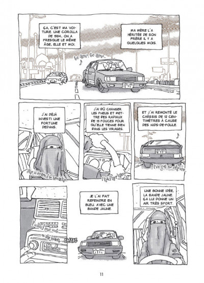 Page 1 la voiture d'Intisar ; portrait d'une femme moderne au Yémen