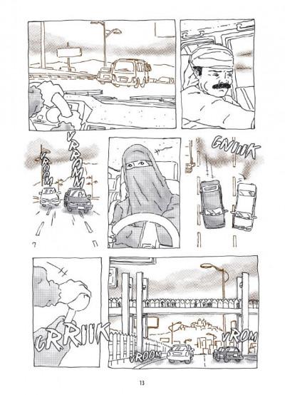 Page 3 la voiture d'Intisar ; portrait d'une femme moderne au Yémen