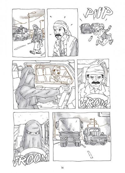Page 4 la voiture d'Intisar ; portrait d'une femme moderne au Yémen