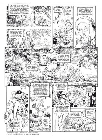 Page 2 le trône d'argile tome 5 - la pucelle - édition de luxe N&B