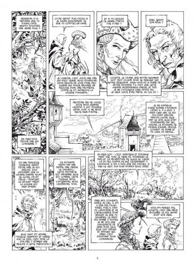 Page 4 le trône d'argile tome 5 - la pucelle - édition de luxe N&B