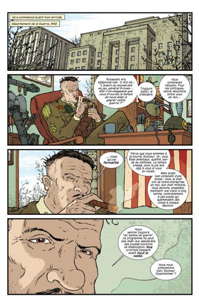 Page 1 projets Manhattan tome 1 - nouvelles expériences