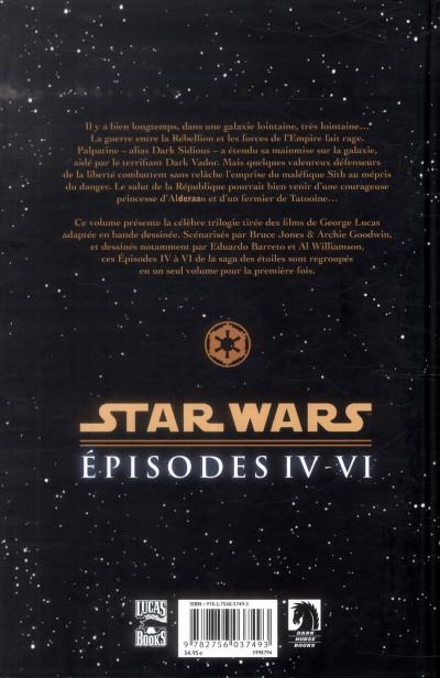 Dos Star Wars épisodes IV à VI - intégrale