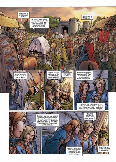 Page 1 Les Reines de sang - Frédégonde, la sanguinaire tome 1