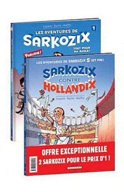 Couverture les aventures de Sarkozix - tome 1 et tome 5