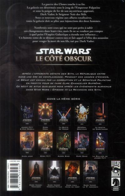 Dos Star Wars Le Coté obscur Tome 14 - Dark Vador - Le 9ème assassin