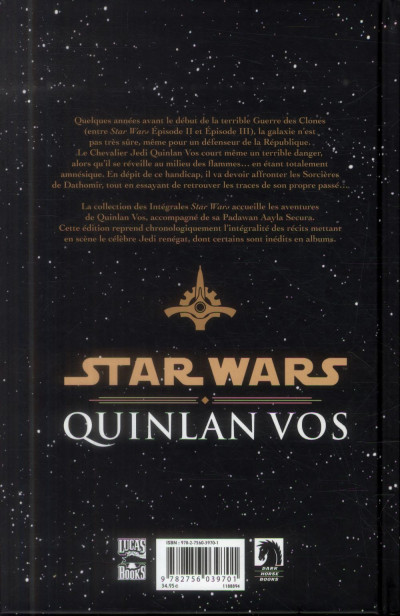 Dos Star Wars - Quinlan Vos tome 1