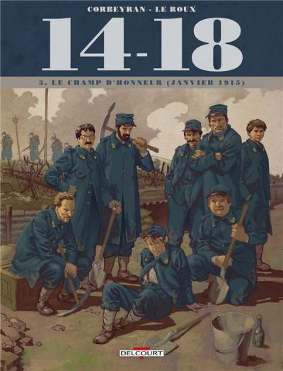 Couverture 14-18 tome 3 - Le Champ d'honneur (janvier 1915)
