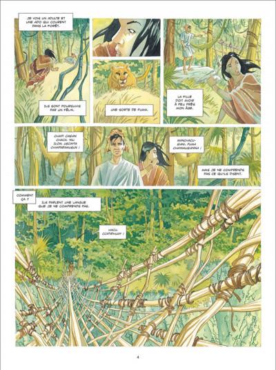 Page 2 L'ombre Inca tome 1 - L'Offrande