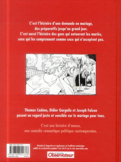 Dos Romain & Augustin - un mariage pour tous