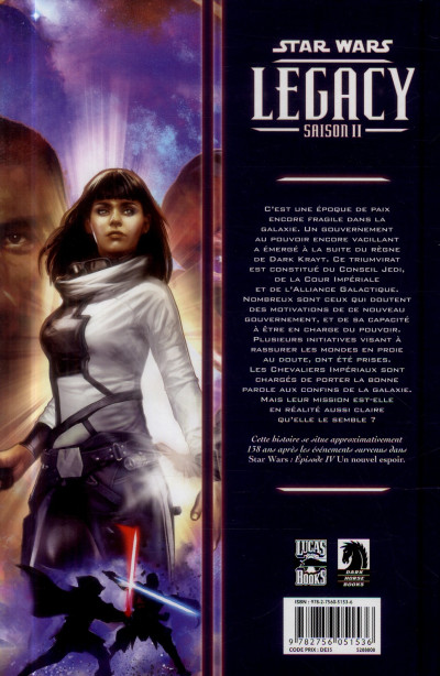 Dos Star Wars Legacy - Saison II Tome 1 - Terreur sur Carreras