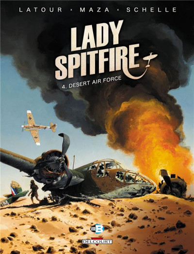 Couverture Lady Spitfire tome 4 - Desert Air Force
