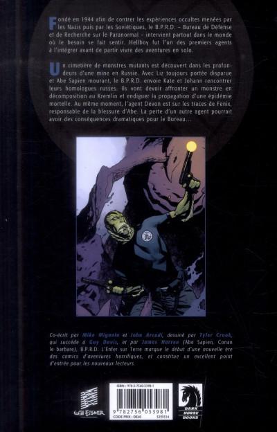 Dos B.P.R.D. - L'Enfer sur Terre Tome 2 - La Longue Mort