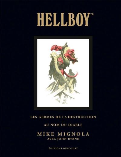 Couverture Hellboy deluxe tome 1 - Les germes de la destruction & Au nom du diable
