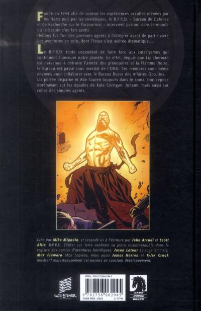Dos B.P.R.D. L'Enfer sur Terre tome 3 - Le Retour du maître