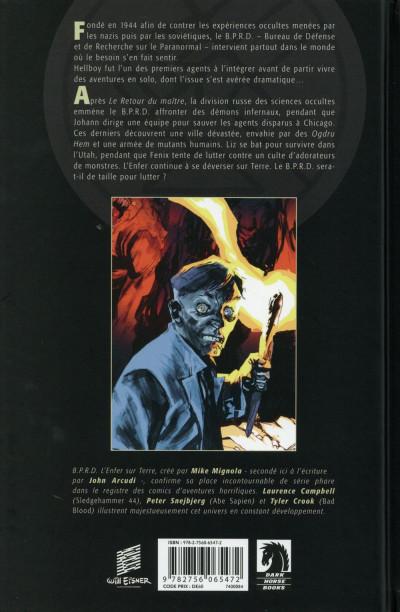 Dos B.P.R.D. l'enfer sur Terre tome 4