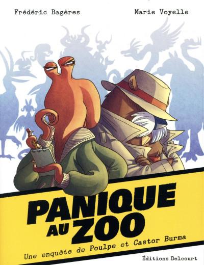 Couverture Panique au zoo