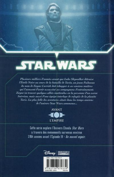Dos Star Wars - Chevaliers de l'Ancienne République tome 1 (édition 2015)