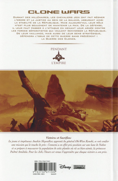 Dos Star Wars - Clone Wars tome 2 (édition 2015)