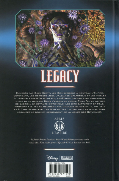 Dos Star Wars - Legacy tome 2 (édition 2015)