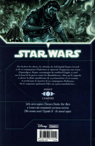 Dos Star Wars - Chevaliers de l'Ancienne République tome 3 (édition 2015)