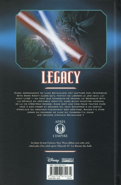 Dos Star Wars - Legacy tome 3 (édition 2015)
