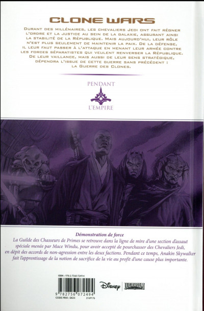 Dos Star Wars - Clone wars tome 6 - édition 2016