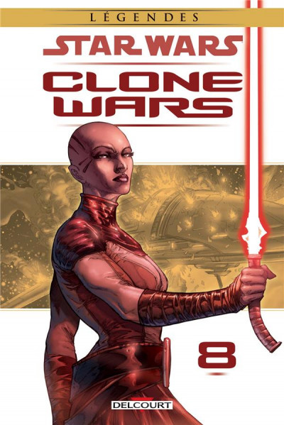 Couverture Star Wars - Clone wars tome 8 - édition 2017