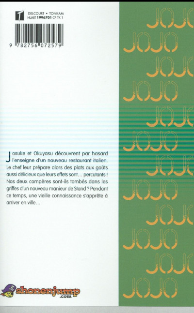 Dos Jojo's bizarre adventure - Diamond is unbreakable tome 5