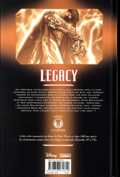Dos Star Wars - Legacy tome 6 (édition 2016)