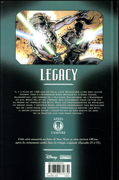 Dos Star wars - legacy tome 9 (édition 2018)
