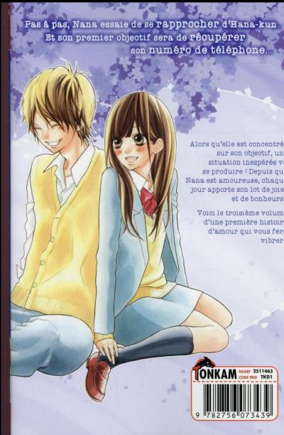 Dos I Love Hana-Kun tome 3