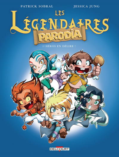Couverture Les légendaires - Parodia tome 1