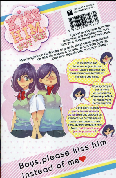 Dos Kiss him, not me ! tome 1