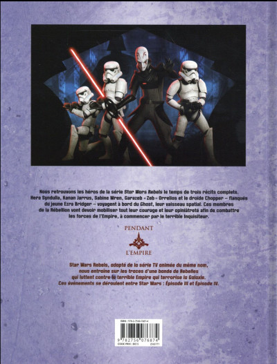 Dos Star Wars - Rebels tome 3